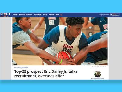 Eric Dailey Jr. Top 25 NBA Draft Stock Risers 2022 NBA Mock Draft News