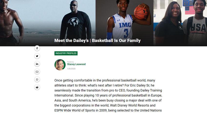 News On Eric Dailey Jr. | High School Basketball Star @ IMG Academy
